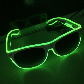 Fashion Women and Men Flashing Glasses EL Wire LED Glasses Halloween Party Eyewear Glow Sunglasses UV400 Drop Shipping F3