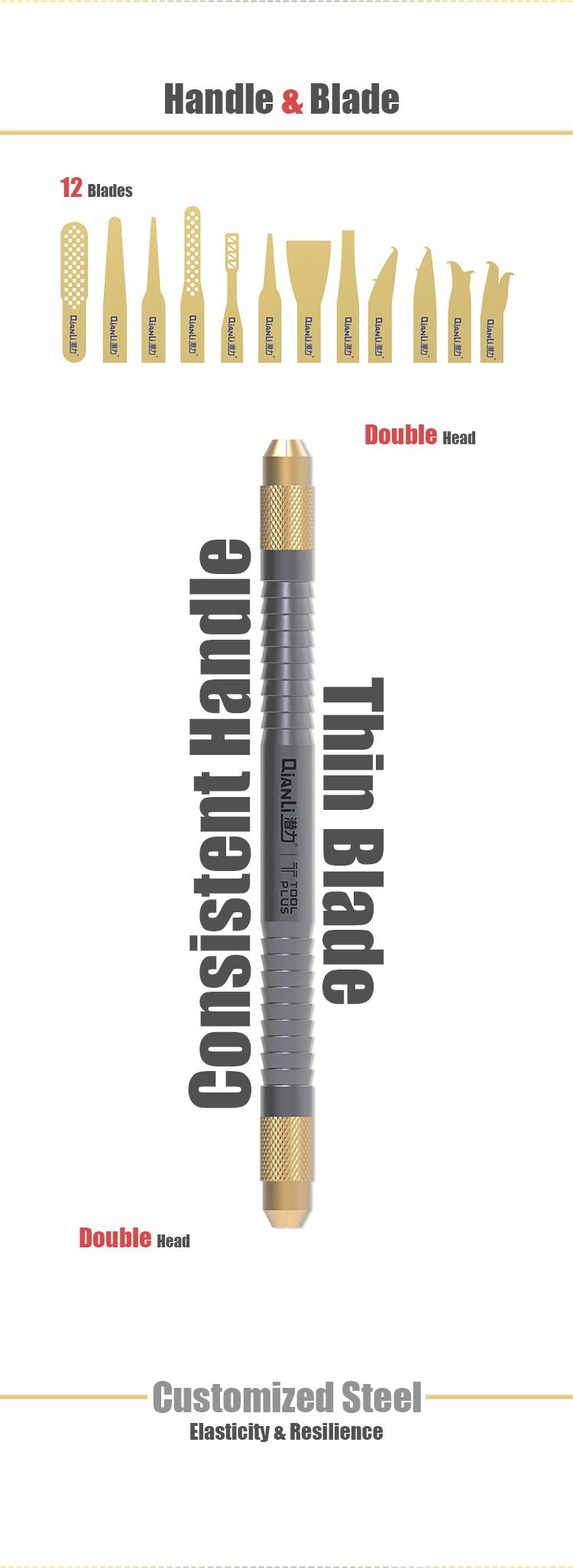 QianLi 009 Original multifunctional knife for iPhone repair CPU IC Chip Glue Remove Thin blade Motherboard Repair Tool set