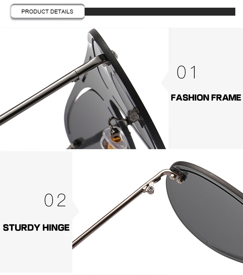 2020 New Arrivals Photochromic Pinhole One Piece Hollow Pilto Women Men SUnglasses