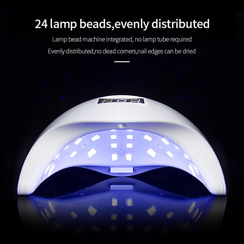 Wholesale Sun Gel lampara Nail Lamp UV Light 48W LED New style Automatic Sensor Uv Led Nail Lamp nails polish colour watt