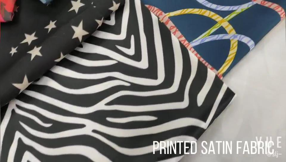 Danlu fabricante promocional de alta calidad 100% poliéster brillante tela de satén para decoración de boda