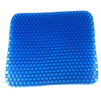 Cool Breathable Honeycomb Design Egg Gel Car Office Chair Silicone Seat Mat Cushion