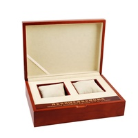 Custom Rubber Luxury Jewelry Gift Packaging Box Wooden Watch Box With Two Compartments