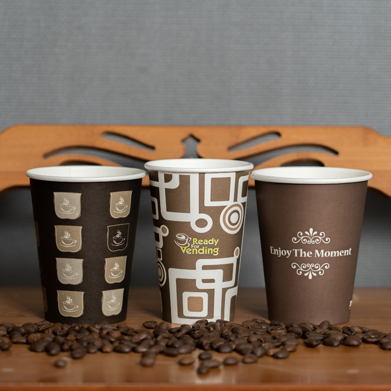 Wholesale Logo Printed Disposable Party Single Wall Drinking Paper Coffee Cups
