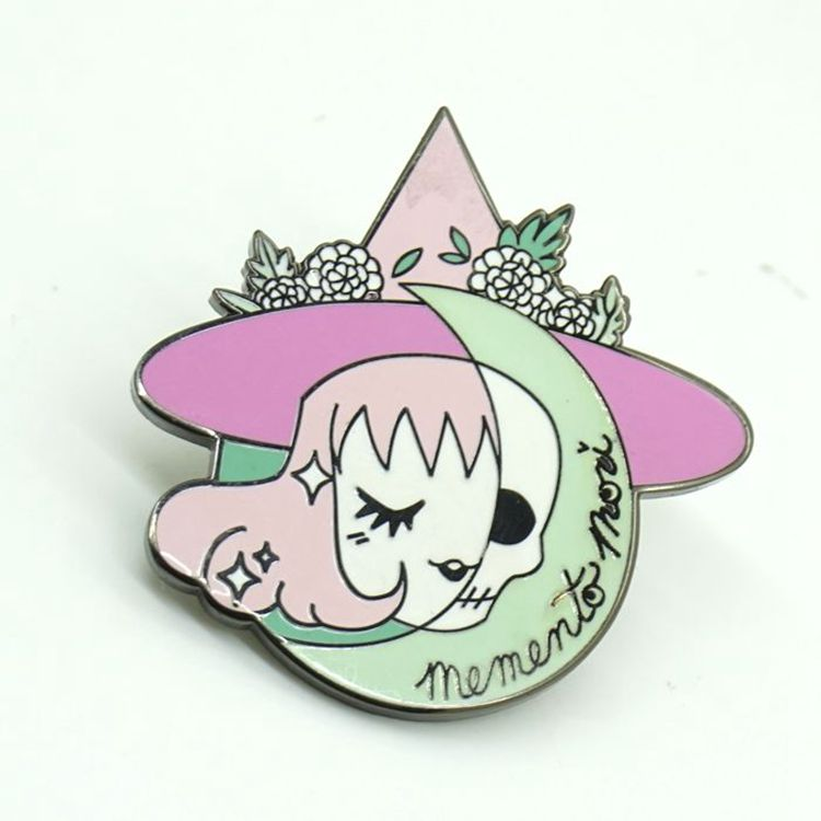 Custom hard enamel cute metal lapel pin