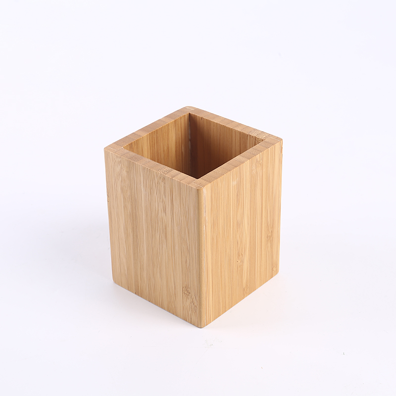Pencil Cup <strong>Holder</strong> 100% Eco-Friendly <strong>Bamboo</strong> - Box for Desk Cute Case Organizer