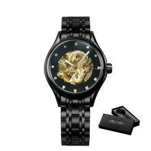 Победитель Топ люксовый бренд автоматические часы для женщин феникс Скелет Кристалл часы Дамы Золото Нержавеющая сталь ремень светящиеся ...(Китай)