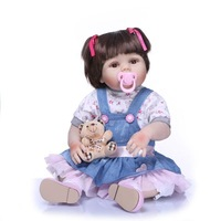 hot sale lifelike baby doll silicone vinyl reborn vinyl 18 inch baby dolls and custom design accepted