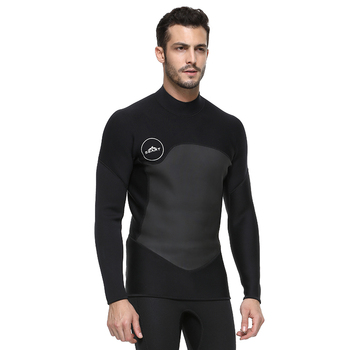 Men's Wetsuit Jacket Neoprene 2mm Long Sleeve Wetsuit Top for Surfing and Snorkeling
