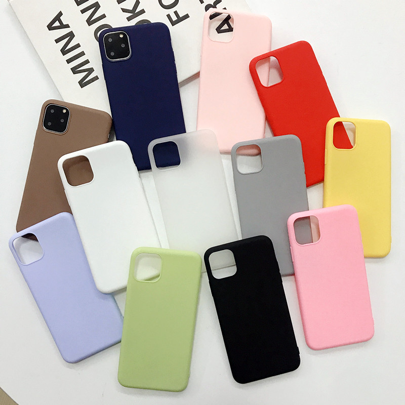 For Apple iPhone 11 Pro <strong>Max</strong> Case Matte TPU Silicone Rubber Soft Cover Phone Case Shockproof, For iPhone 12 Case