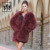new fashion long style turkey feather fur coat winter fur coat women