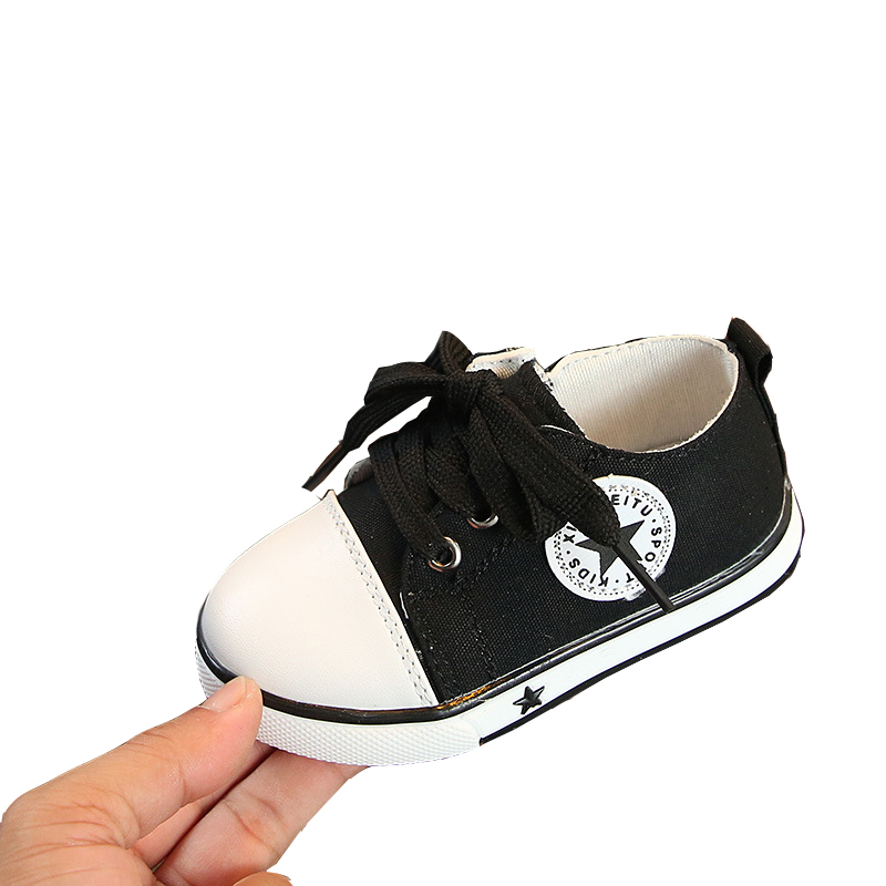 Stars Soft Oxford Sole Kid Canvas Shoes