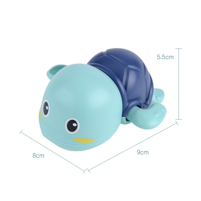 A turtle that can swim while playing in the water 2020 Funny baby bath toy blue play turtle toy