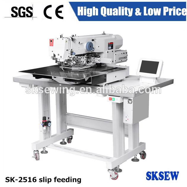 Automatic slip feed Label Attaching computer Pattern Programmable industrial Sewing Machine