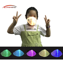 2020 New Technology Novedad Led Light Up Mascarilla reutilizable con filtro para niños