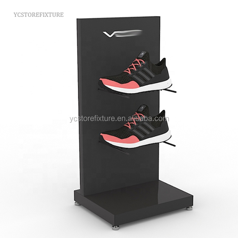 Store countertop round base acrylic display stand for shoe
