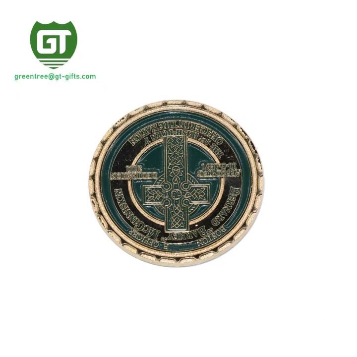 Star shaped custom engraved metal hard enamel pin badge