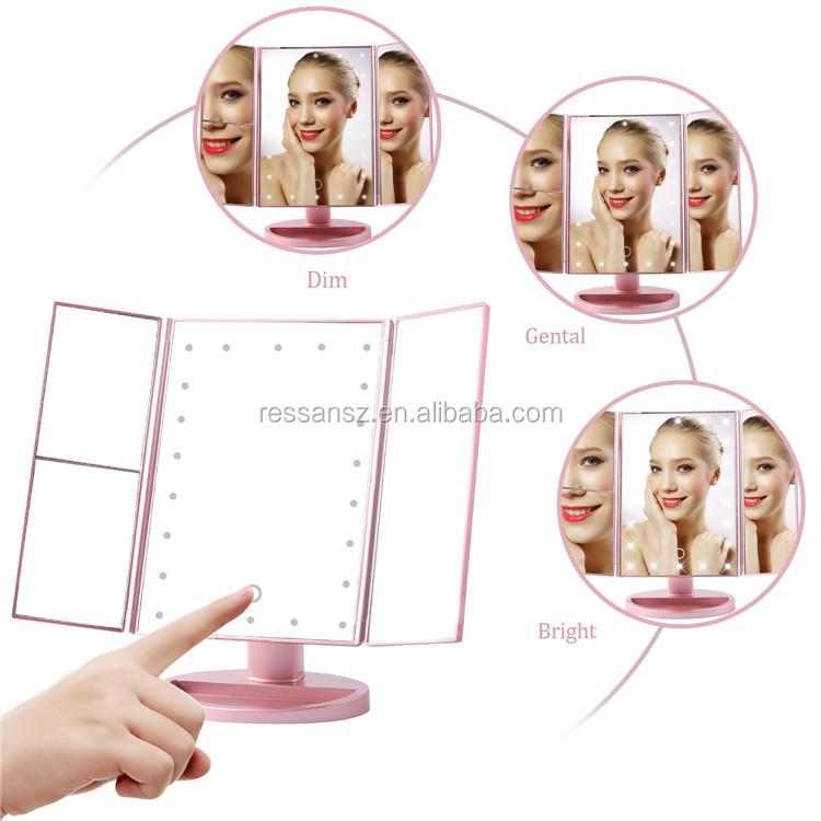 Promocional Maquiagem Make Up Cosméticos Levou Espelho com Luz Led maquiagem fabricantes