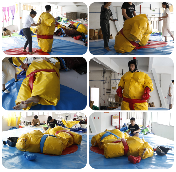 High Quality 1.5m Tall One Pair Inflatable Sports Games Foam Padded Sumo Wrestling Suits For Adults And Kids