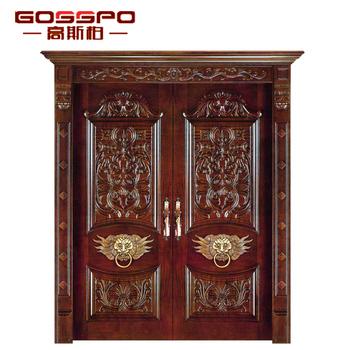Gsp1 005 Solid Teak Wood Timber Door Mahogany Entry Carving Door Buy Mahogany Entry Carving Door Solid Teak Wood Doors Timber Entrance Door Product