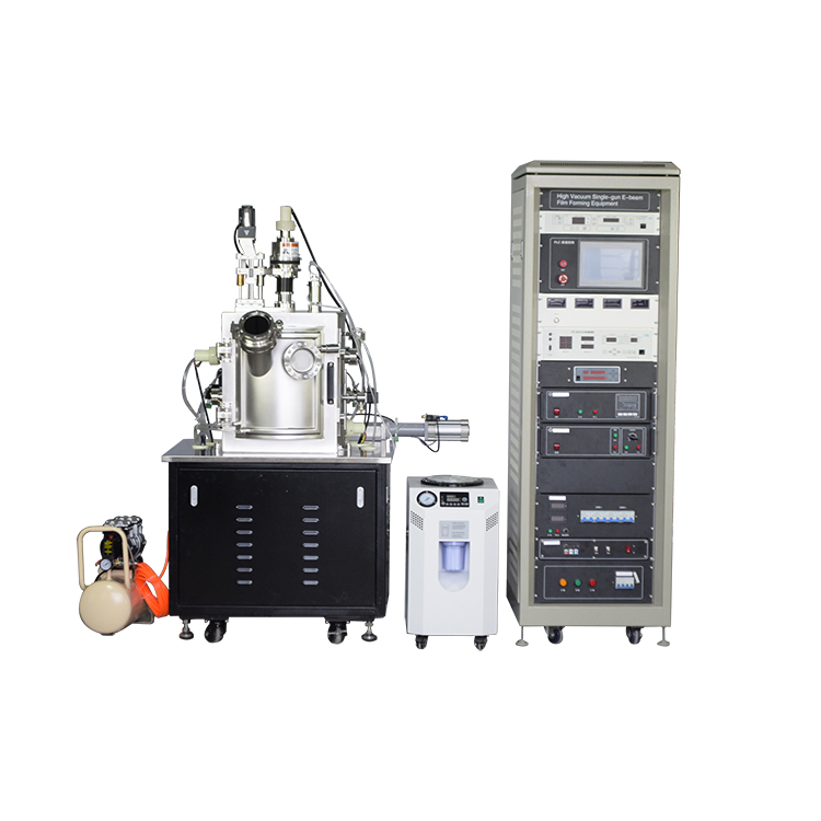PVD electron beam evaporation coating machine for laboratory preparation of metal mono-membrane