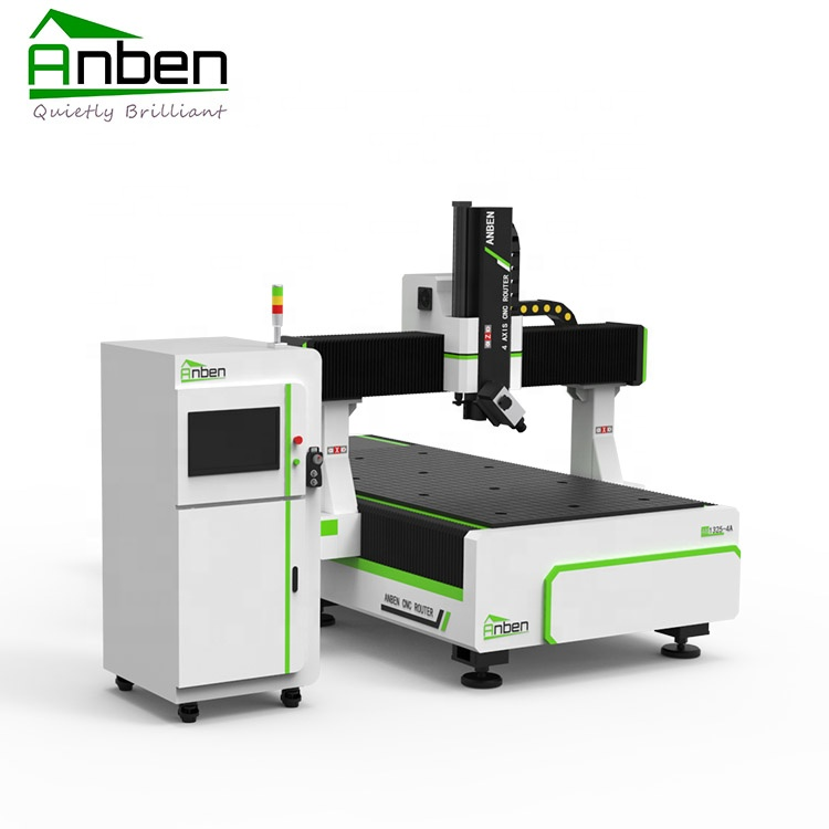 Anben Model Baru 1325, 4 Axis CNC Router Mesin Woodworking Alat