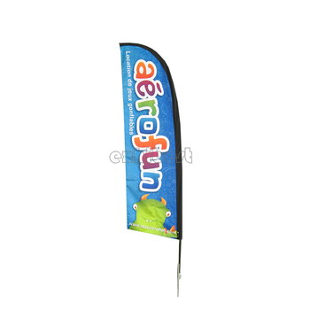 Beach Feather Flag Trade Show Beach Flag Banner Stand Polyester Beach Flag With Poles New Products On China Market