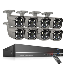 8CH 5MP Video Überwachung Kits Mit 8PCS 2 Weg Audio AI IP POE Kamera CCTV Home Security System