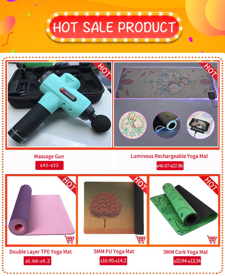 Fábrica de Shenzhen Precio del fabricante de doble capa de impresión personalizado barato orgánico Eco amigable de estera de Yoga con correa