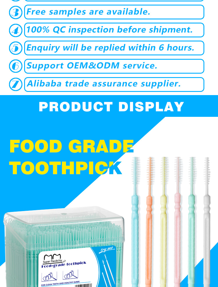 Low Price Sterile Floss Dental Interdental Brush Mint Toothpick Plastic Wholesale Manufacturer