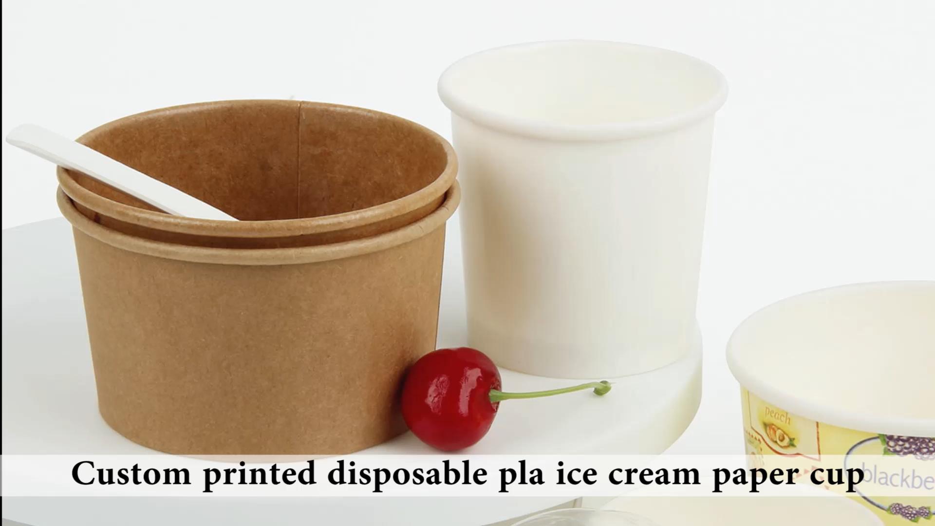 เยลลี่ผลไม้ถ้วยกระดาษสำหรับไอศครีม3ออนซ์,5ออนซ์ไอศครีมถ้วยกระดาษ,5ออนซ์ถ้วยโยเกิร์ตแช่แข็ง