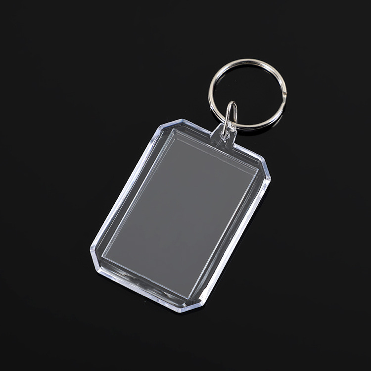 T-Shirt  Clear acrylic  keychain blanks photo frame  for free gift