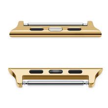 Роскошный металлический адаптер с застежкой для apple watch band 44 мм 5 серия 4 3 2 1 Аксессуары 42 мм 40 мм 38 мм браслет ремешок(Китай)