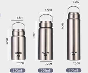 Double wall stainless steel vacuum flask with tea infuser medical grade 316 material bottle