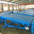 CE certificated 12 ton container loading hydraulic lift garage car ramp dock leveler bumpers sale