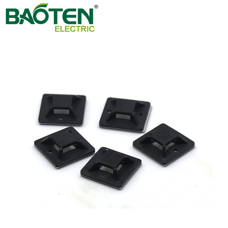 BAOTENG BT high quality plastic Cable Tie Mounting Base mount head white zip Tie Mounts