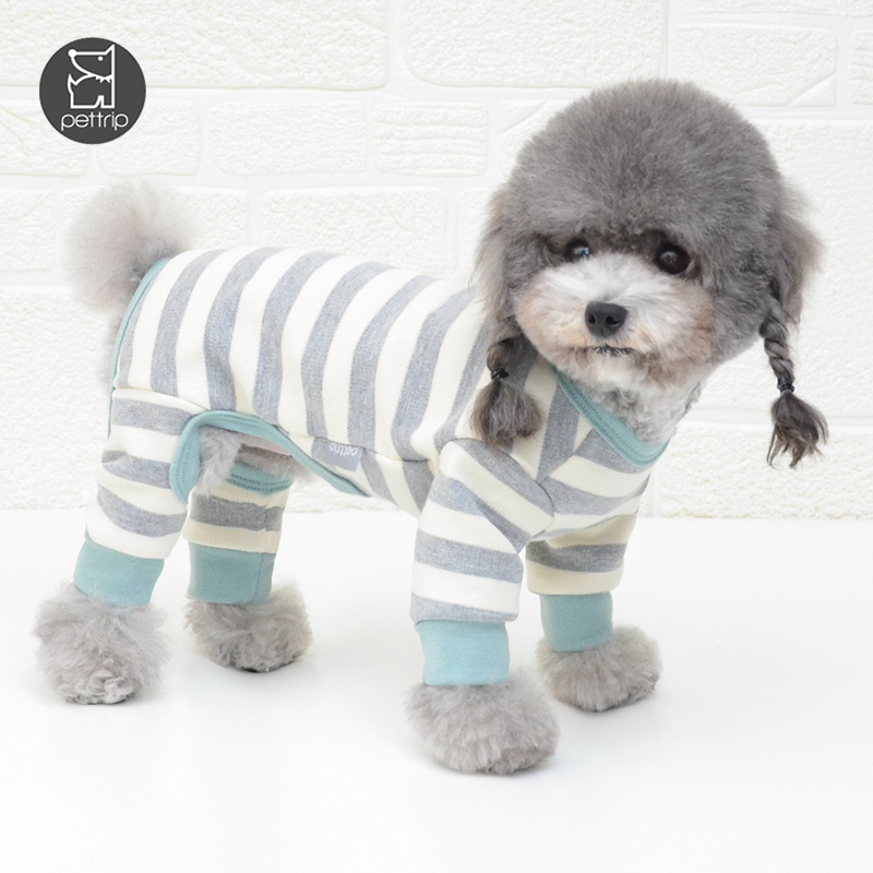 striped 100% cotton four legs dog clothing pet clothes pet apparel and accessories small dog clothes