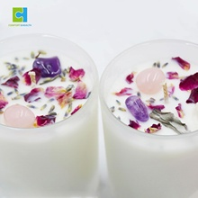 Energy Crystals Infused Aromatherapy Soy Wax Spiritual Candles