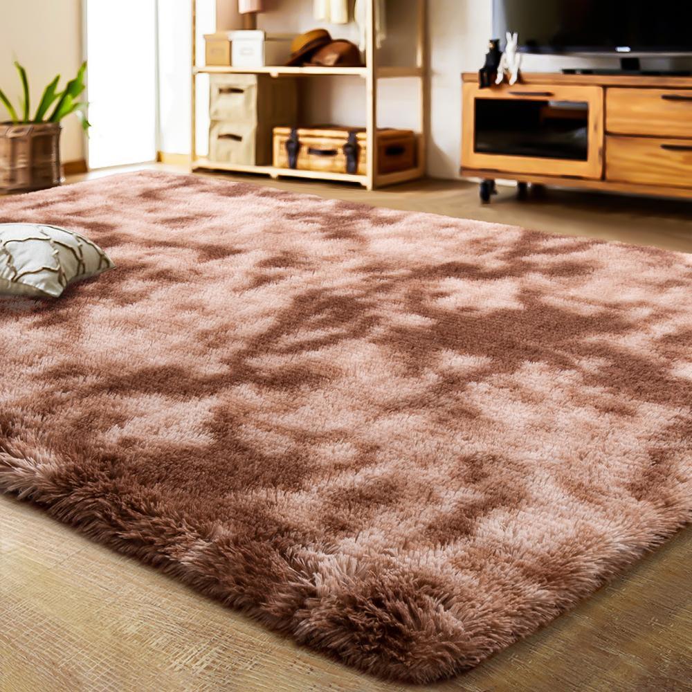 핫 세일 다색 실내 센터 깔개 염색 스타일 솜털 카펫 거실
