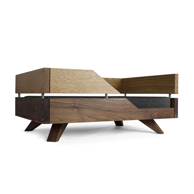 Wooden Modern Dog Bed With Mat