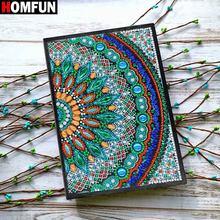 HOMFUN A5 блокноты 5D DIY алмазная живопись специальная форма дневник Алмазная вышивка крестиком Стразы Декор подарок(Китай)