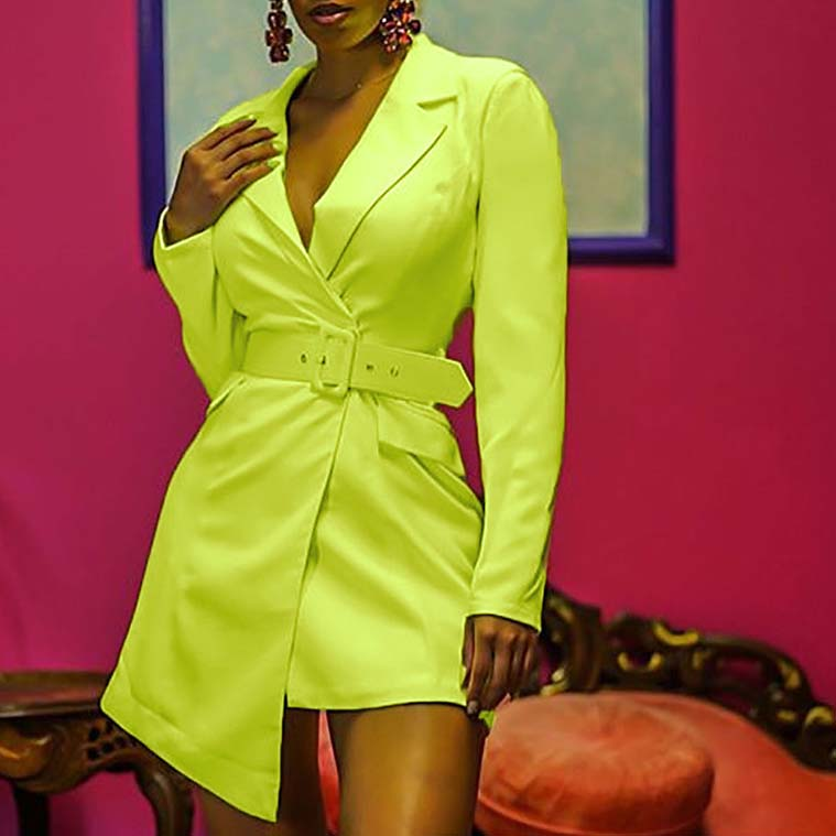FS0304D 2019 autumn Fashion women long sleeve dresses casual suits фото