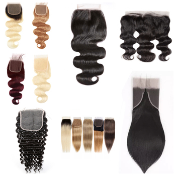 XBL 22 years Gold Supplier Drop shipping 4*4 Size Top Virgin Human hair Closure,MInk Brazilian Remy Hair Silk Base Closure