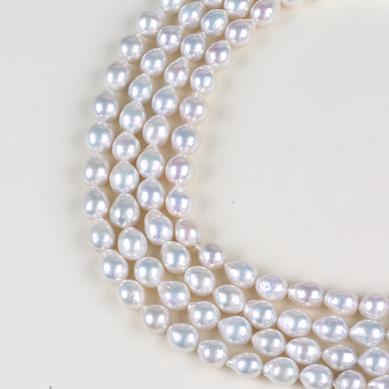 11-13mm natural white edison pearls strands jewelry making