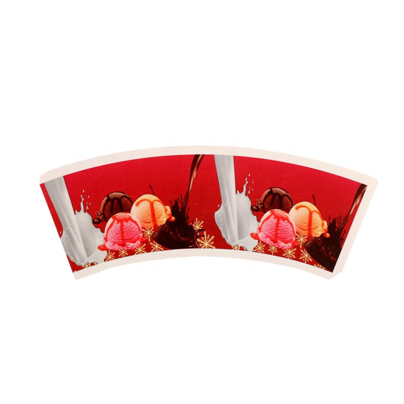 Custom Personalised Raw Materials Biodegradable Pe Coated Paper Coffee Fans