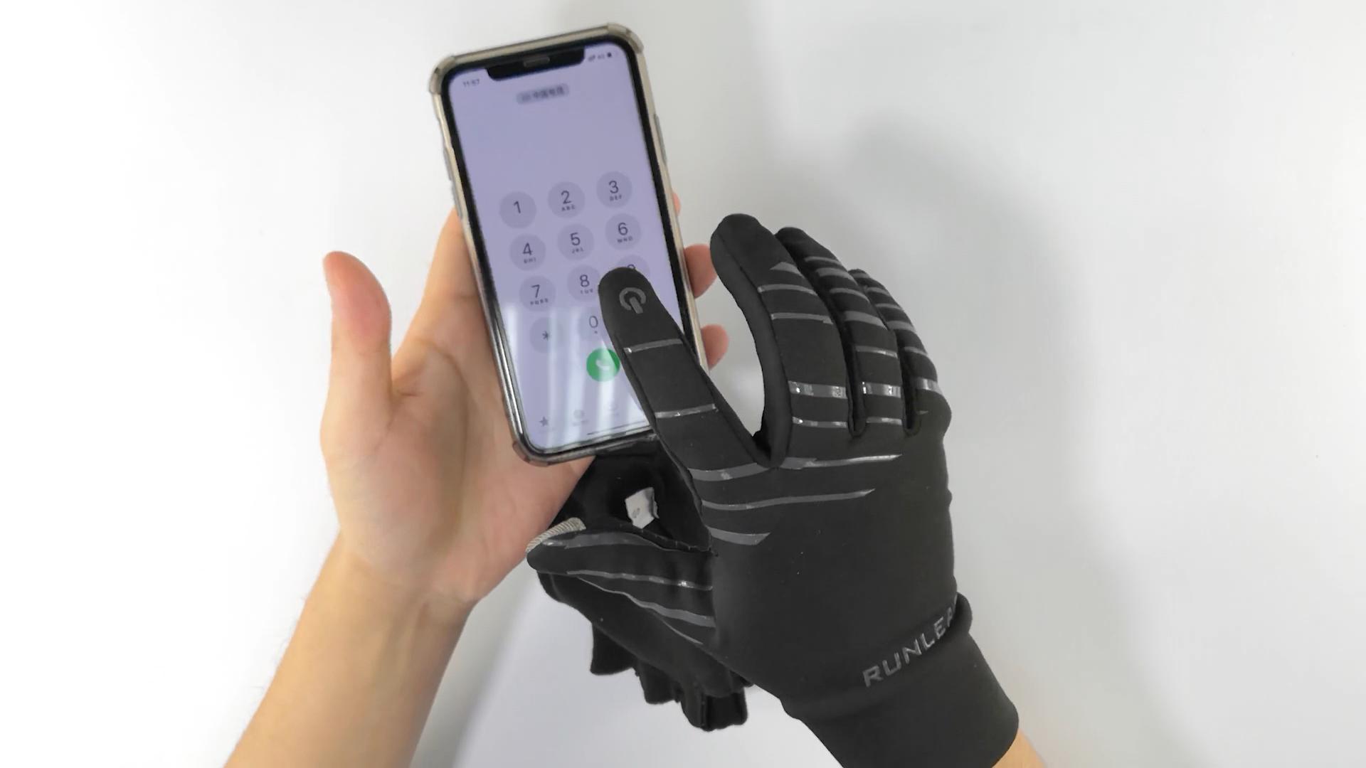 Su misura Da Corsa Leggero Guanti Touch screen Guanti di Sport All'aria Aperta Con Il Pieno di Palme Grip In Silicone