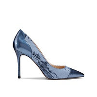 2019 High Heel Women's Blue Print Leather x19-c119 Ladies Women Dress Shoes Heels For Lady