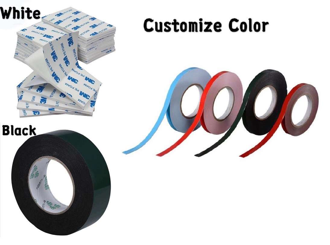 free sample clean high temperature 3m pe foam double sided insulation tape