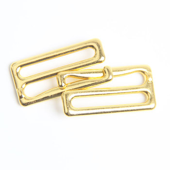 Factory Wholesale ECO-Friendly Nick-Free Custom Gold Plated Metal Bra Adjustment Hooks Bra Straps Adjuster