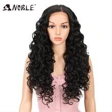 Благородный 360 парик с фронтальной шнуровкой, предварительно выщипанные с детскими волосами, 26 дюймов, кудрявые синтетические парики, блонд...(Китай)